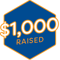 $1,000 Raised Badge